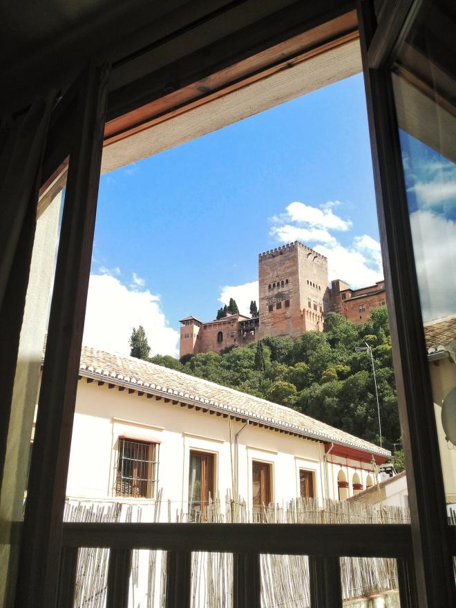 hotelli Granada Albaycin näkymä Alhambraan