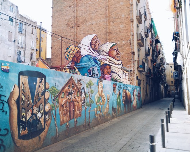 Barcelona Eevagamunda 2018 katutaide