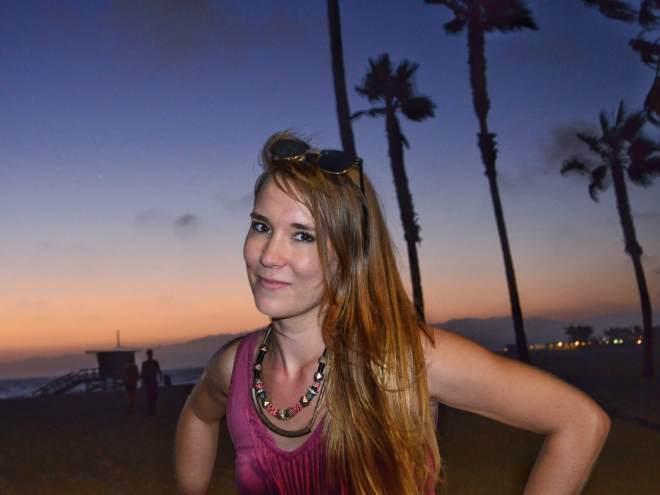 venice beach auringonlasku