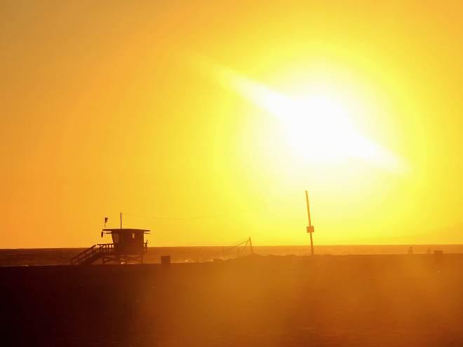 LA venice beach auringonlasku