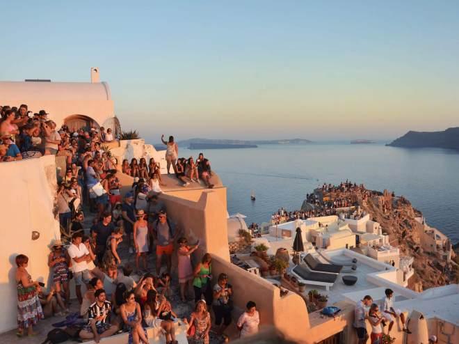 kreikka santorini oia auringonlasku