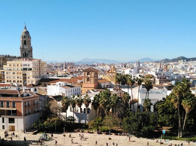 Malagan kaupungin panoraama