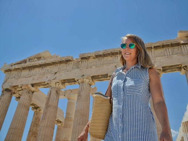 Ateena Akropolis turisti
