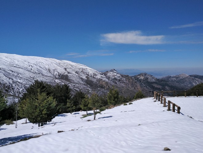Sierra Nevadan vuorimaisema